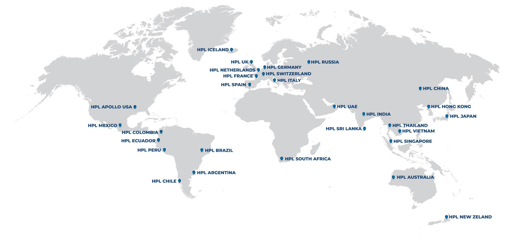 Map of HPL APOLLO locations